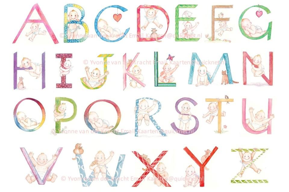 geboortekaartje, kalligrafie, calligrafie, letter, baby, alfabet.