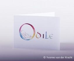 Geboortekaart kalligrafie