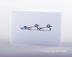 Familie eend geboortekaartje