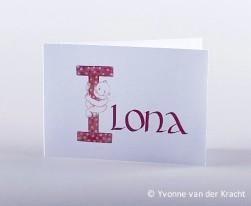 Initiaal uit het baby-alfabet
