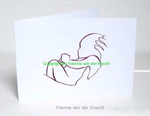 rustig geboortekaartje ontwerp