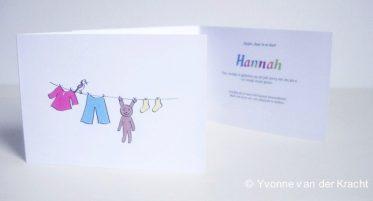 babywasje getekend geboortekaartje