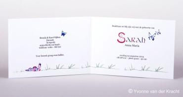 Voorbeeld binnenkant geboortekaartje